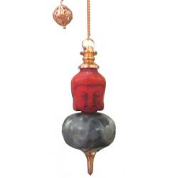 Pendule tête de bouddha