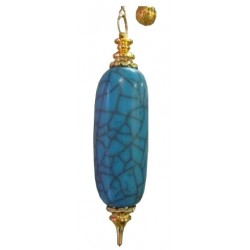 Pendule resine long bleu