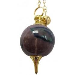 Pendule Séphoroton céramique violet