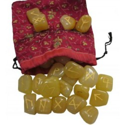 Runes aventurine jaune