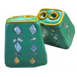 Porte encens rectangulaire vert
