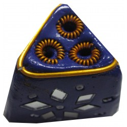 Porte encens triangle violet