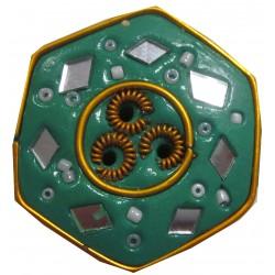 Porte encens hexagonal vert