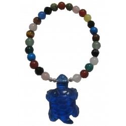 Bracelet multipierres tortue bleue