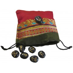 Runes tourmaline noire