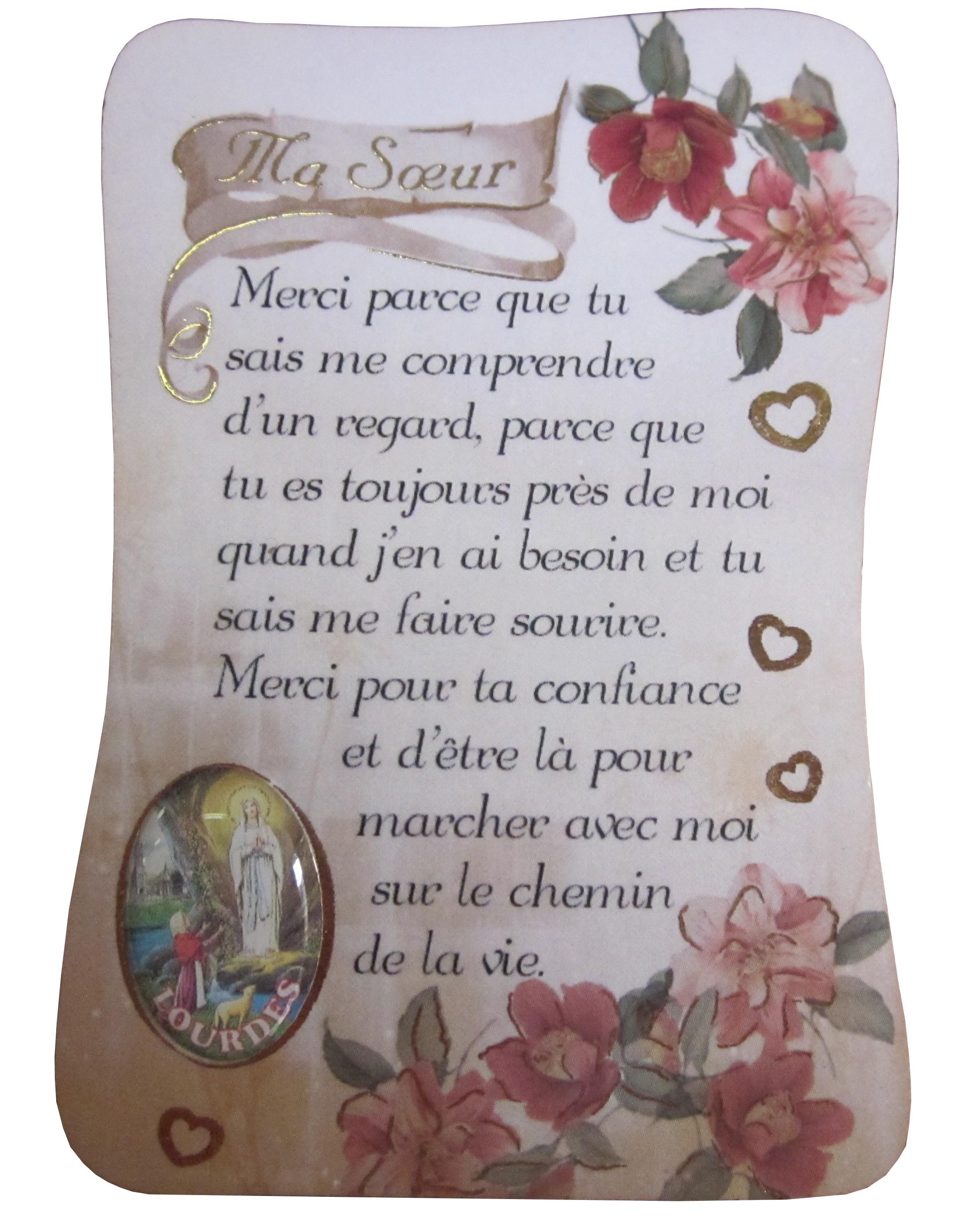Magnet Poème Ma Soeur Ndl