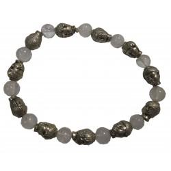 Bracelet Bouddha pierre cristal de roche