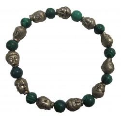Bracelet Bouddha pierre malachite