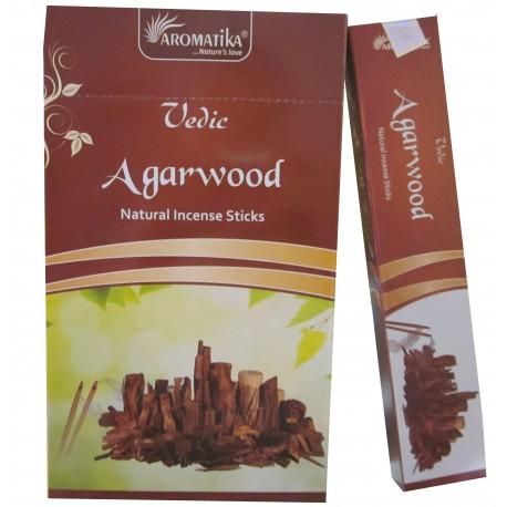 "Encens AGARWOOD (bois d'agar) ""Védic Aromatika"" 15 gr"