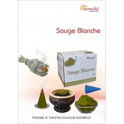"""Sauge Blanche """"AROMATIKA POUDRE 100GR"""" (avec kit pour cônes)"""
