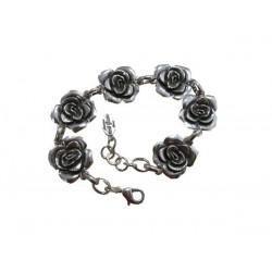 Bracelet rose métal argenté