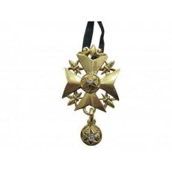 Croix Huguenote métal doré